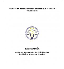 Záznamník  odbornej lekárenskej praxe študentov študijného programu Farmácia